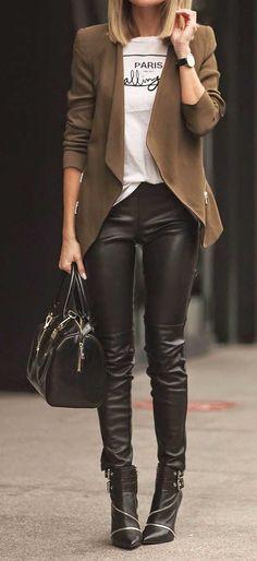 Calça de couro preta 2017