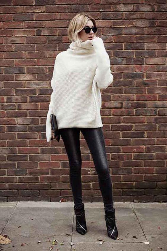 modelos de Calça de couro 2017