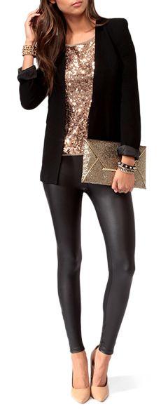 moda Calça de couro 2017