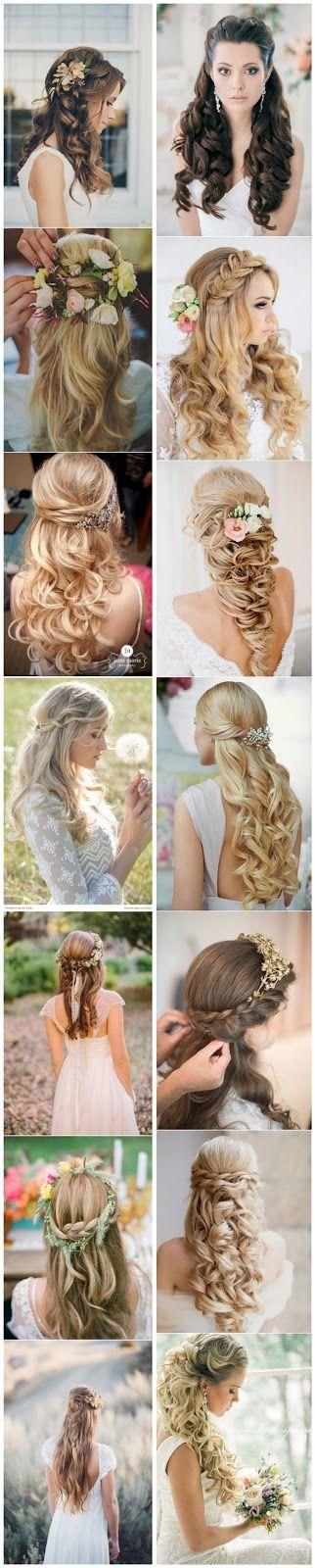 modelos de penteados para noivas 2017
