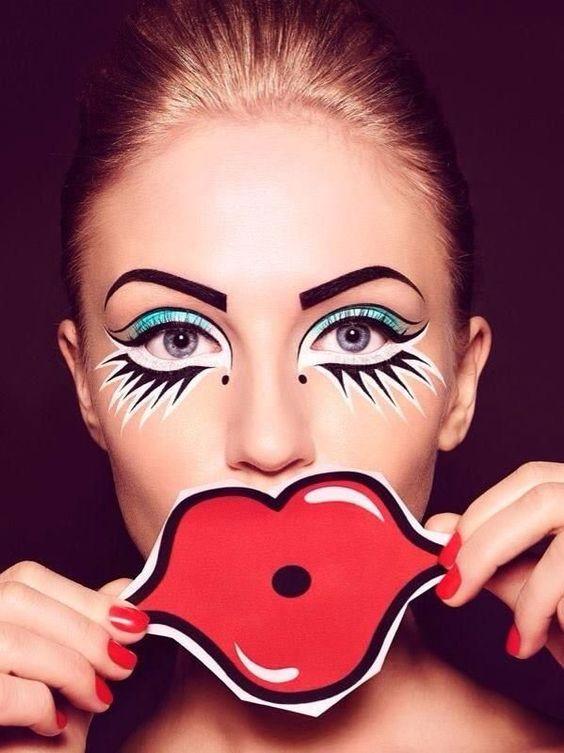 maquiagem-para-carnaval-colorida