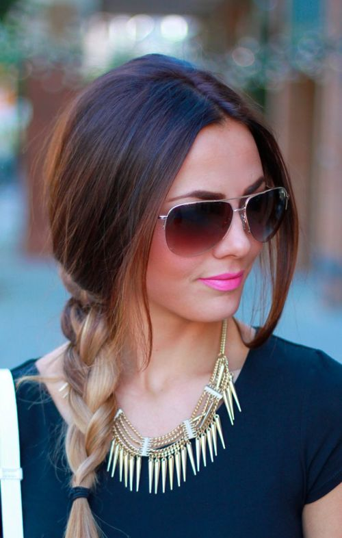 Ombre Side Braid