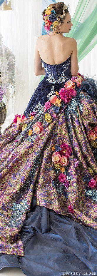 vestidos-de-noiva-coloridos-estampados