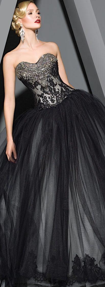 vestidos-de-noiva-coloridos-pretos