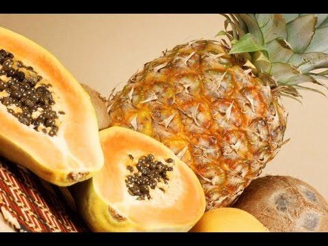 Suco de Abacaxi e mamão
