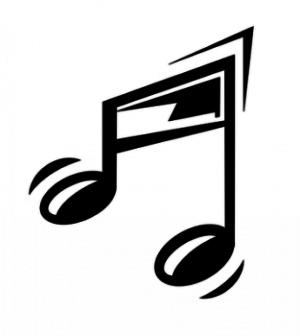 Símbolos da música no teclado