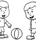 Desenhos para crianças colorir futebol