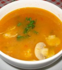 sopa de mandioca light
