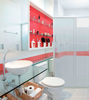 #300336 14 Modelos para Decorar banheiros pequenos e simples 300x336 px modelo de banheiro simples e pequeno