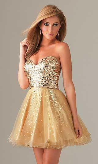 modelos-de-vestidos-dourados-curtos