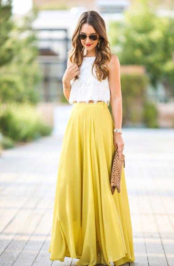 Moda Evangélica 2017 vestidos amarelo