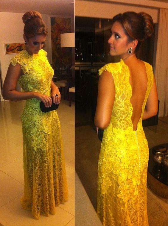 vestidos-de-renda-longo-amarelo
