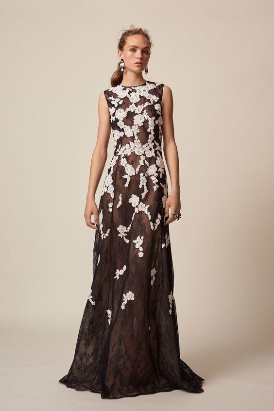 vestidos-de-renda-longo-branco-e-preto