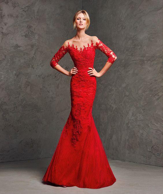 vestidos-de-renda-longo-vermelho-lindo