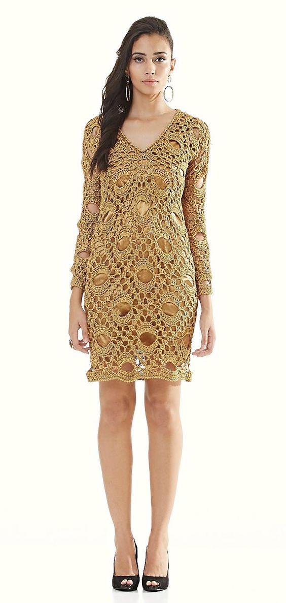vestidos-dourados-curtos-de-renda