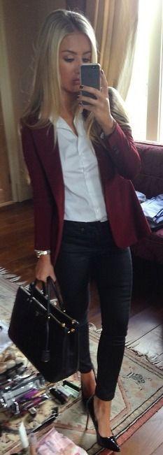Blusa social feminina com blazer