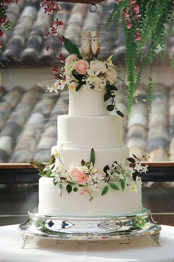 Modelos de Bolos decorados para Casamento 2018