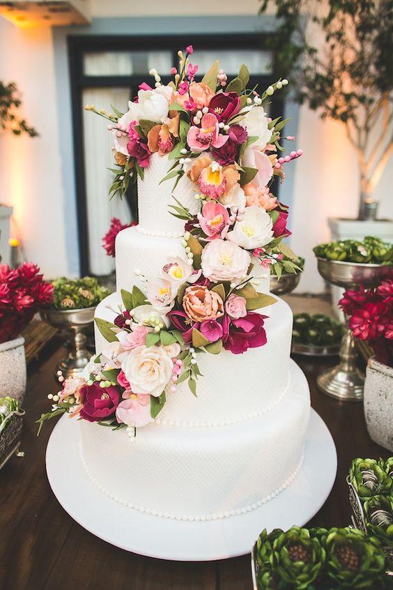 Fotos de Bolos decorados para Casamento 2018