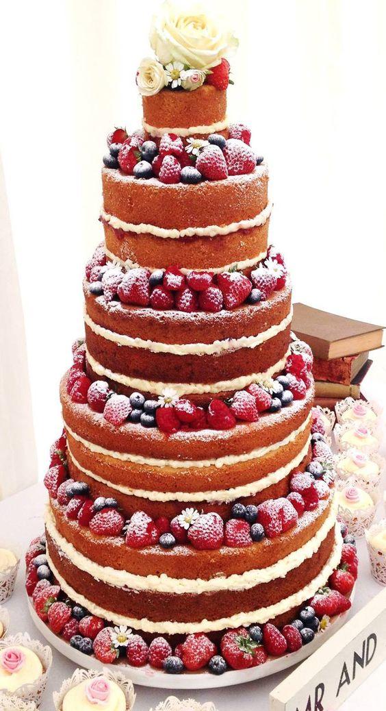 Bolos de Casamento naked cake 2018