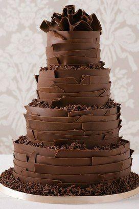 Bolos de chocolate Casamento 2018