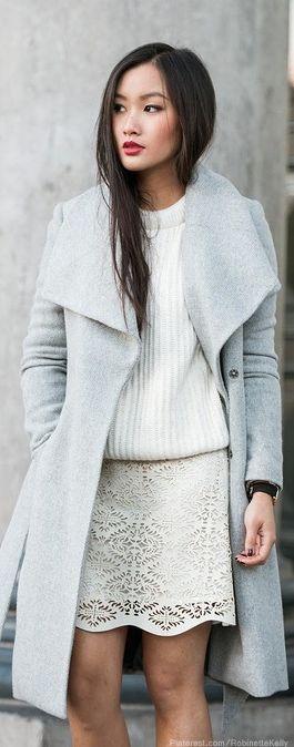 casaco feminino cinza