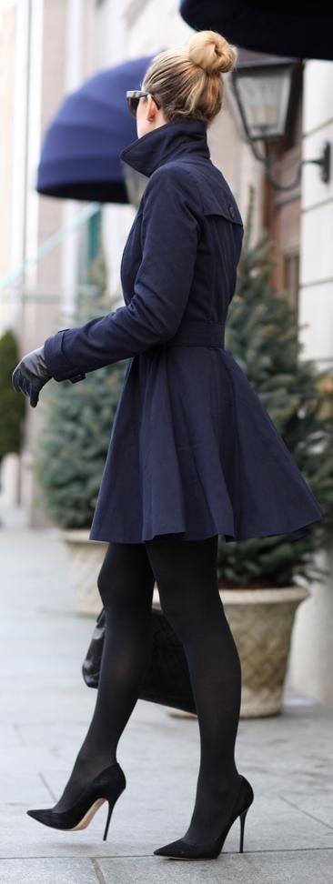 casaco feminino preto longo