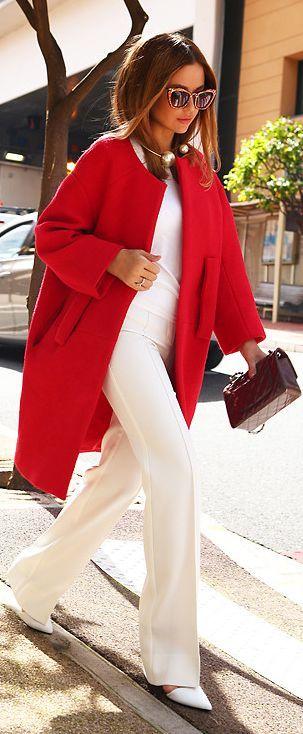casaco feminino vermelho