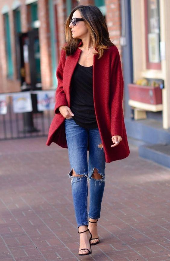 casaco vermelho moda 2018