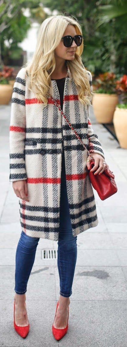 casaco xadrez