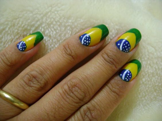 Unhas decoradas copa do mundo 2018