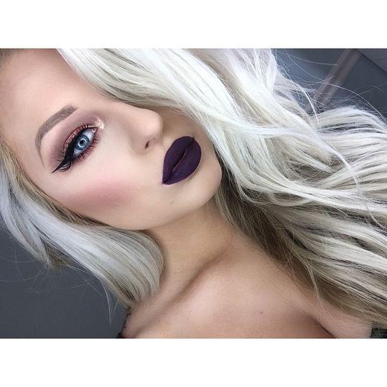 Maquiagem Rock para loiras