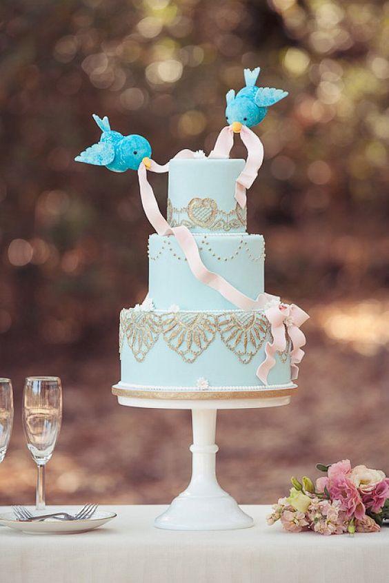 Cake With Fondant Bird : Bolos de Casamento 2018: Tendencias e 45 modelos criativos