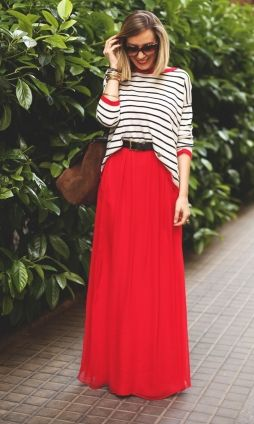 saias longas femininas moda verão 2018