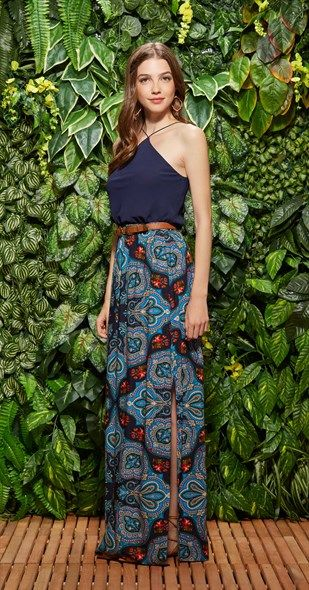 saia longa feminina moda 2018