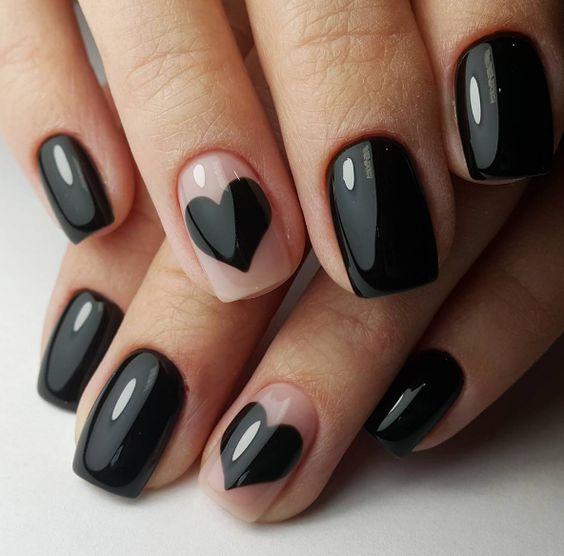 unhas decoradas pretas 2019