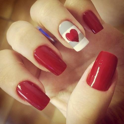 unhas decoradas vermelhas