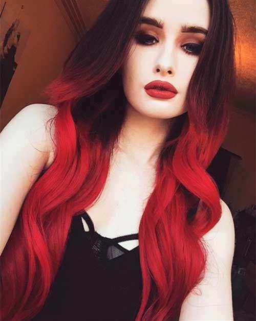 cabelos vermelhos com mecha
