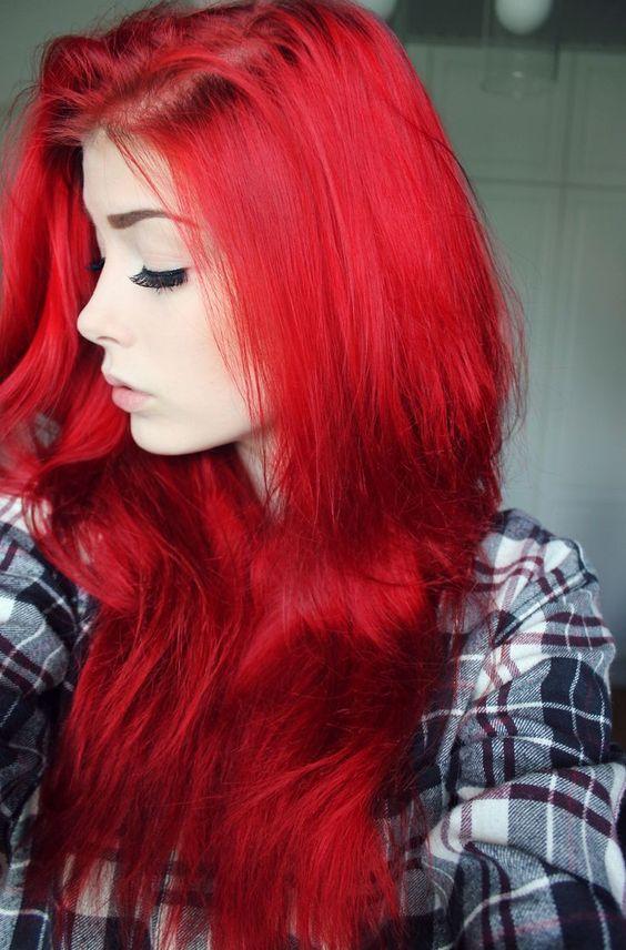 cabelos vermelhos moda 2018