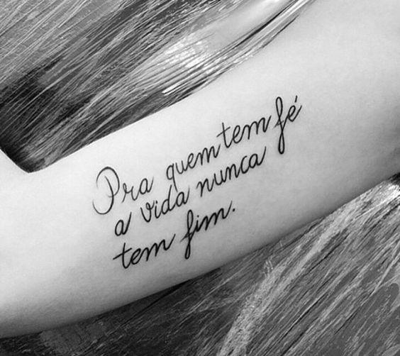 Tatuagens Escritas Femininas Fotos