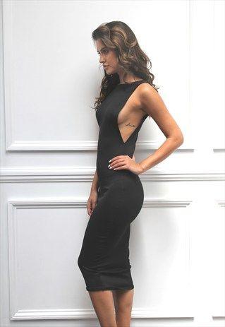 vestidos colados pretos