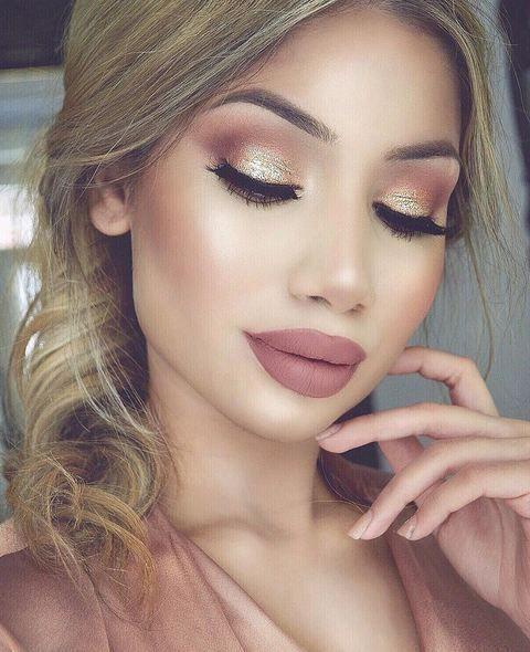 maquiagem metalizada linda